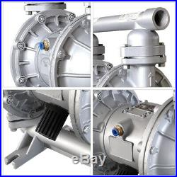 1'' PTFE Air-Operated Double Diaphragm Pump 26.4GPM 100psi 1/2inch Air Inlet