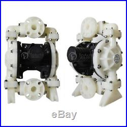 15GPM Air-Operated Double Diaphragm Pump Industrial PP & Buna-N 3/8in. Air Inlet