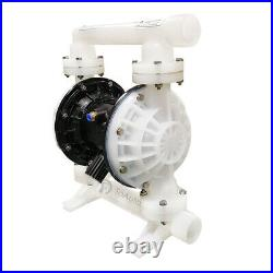 26.4GPM Air-Operated Double Diaphragm Pump 1'' Inlet&Outlet Polypropylene Buna-N