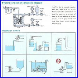 Air-Operated Double Diaphragm Pump 1.5 Inlet Outlet Petroleum Fluids 37GPM
