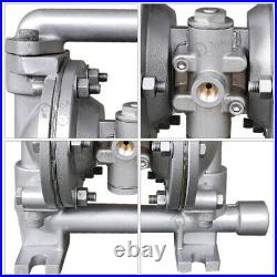 Air-Operated Double Diaphragm Pump 5.3GPM 1/2'' Inlet & Outlet Petroleum Fluids