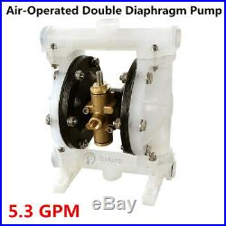 Air-Operated Double Diaphragm Pump Buna-N- 5.3 GPM, 1/2'' Inlet & Outlet, 100PSI