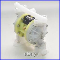 Double Diaphragm Air Poly Pump Chemical Industrial Polypropylene 1/2 or 3/4 NPT