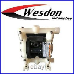 Double Diaphragm Air Pump Chemical Industrial Polypropylene 1/4 or 3/8 NPT Inlet