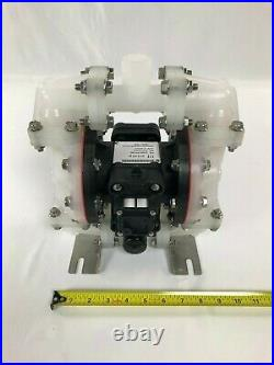 Double Diaphragm Air Pump Chemical Polypropylene Body 1/2 NPT Inlet / Out