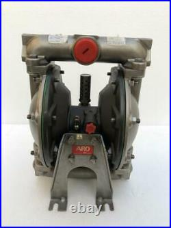 Ingersoll Rand Aro 66612b-244-c Air Operated Double Diaphragm Pump 1 Ss