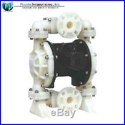 NEW IN BOX Double Diaphragm Air Poly Pump Chemical Industrial 1