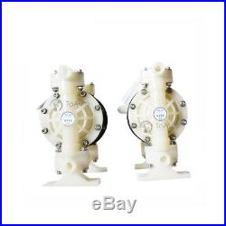 PTFE Air-Operated Double Diaphragm Pump 15GPM 3/8'' Air Inlet Chemical Liquids