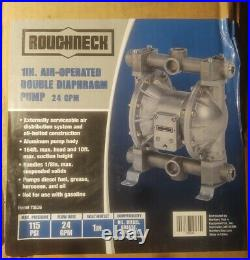 Roughneck Air-Operated Double Diaphragm Oil Pump 24 GPM, 1in. Inlet and Outlet